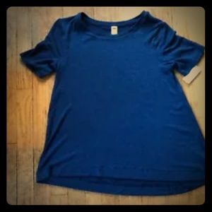 Old Navy Luxe Short Sleeve Top Sweater Loose Fit